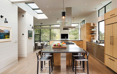 Houzz Tour: Modern Materials, More Light Update a Suburban Home