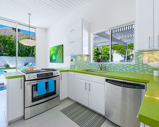 Modern Kitchen Green green countertops | houzz