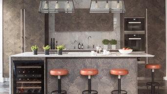 Laser Cut Ash Burr Bespoke Kitchen