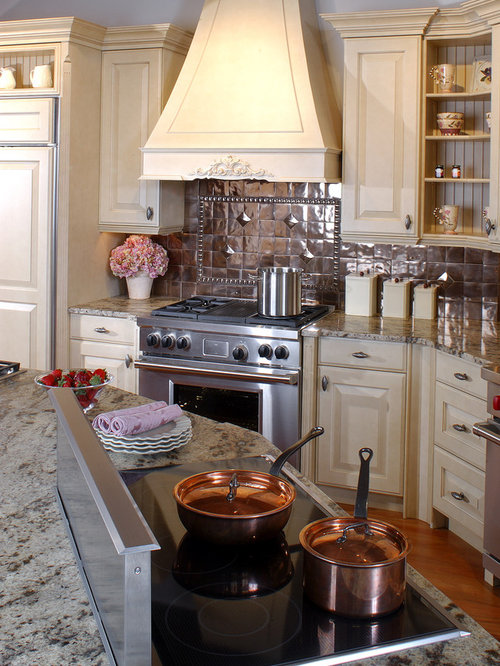 copper tile backsplash houzz. Black Bedroom Furniture Sets. Home Design Ideas