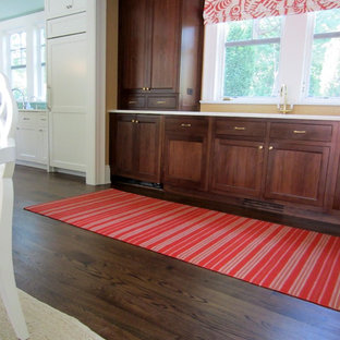 LATTINGTOWN: SELECT WHITE OAK INSTALLED/FINISHED W DARK WALNUT STAIN + TUNG OIL