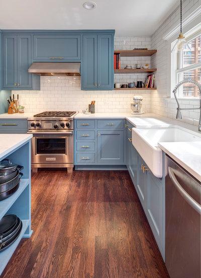 Transitional Kitchen by Buckenmeyer Architecture