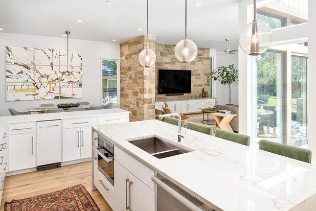 Transitional Kitchen by Christen Ales Interior Design