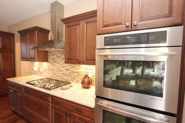 Transitional Kitchen by Costa Homebuilders