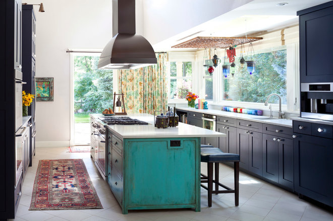 Eclectic Kitchen by Andrea Schumacher Interiors