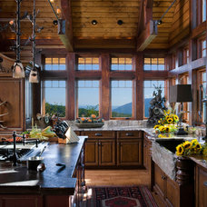 Rustic Kitchen by Dianne Davant and Associates