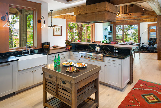 Rustic Kitchen by Dovetail Construction