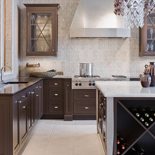 Inspiration For A Transitional Ceramic Floor Kitchen Remodel In Boston With  Stainless Steel Appliances, Onyx