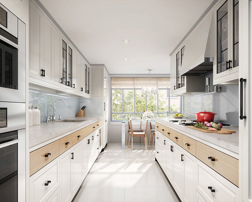 contemporary kitchen remodeling trendy galley kitchen photo in toronto with an integrated sink raised - Contemporary Kitchen Design Ideas
