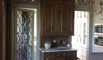 Leaded Mirror Pantry Door and Transoms