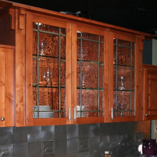 Leaded Texured Glass Cabinet