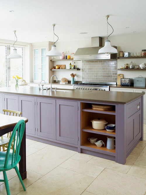 Example Of A Classic Galley Eat In Kitchen Design In West Midlands With An  Undermount