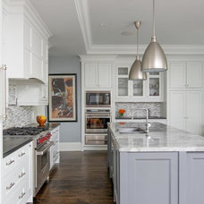 Transitional Kitchen by Steffanie Gareau Interior Design