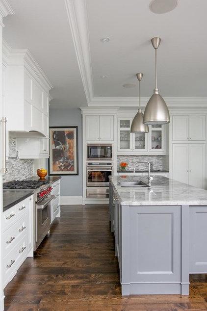 Transitional Kitchen by Steffanie Gareau Interior Design
