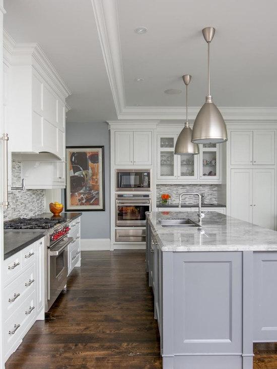 Grey Island Cabinets Houzz