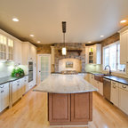 Leathered Antique Brown Granite and River Valley Granite ...