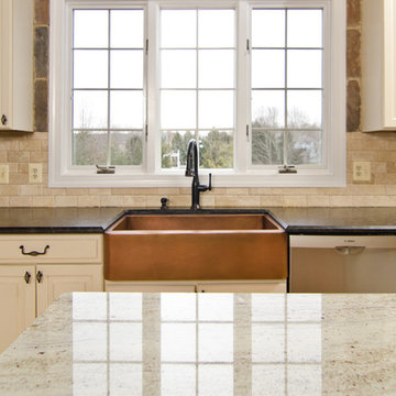 Leathered Antique Brown Granite and River Valley Granite in Vienna, VA