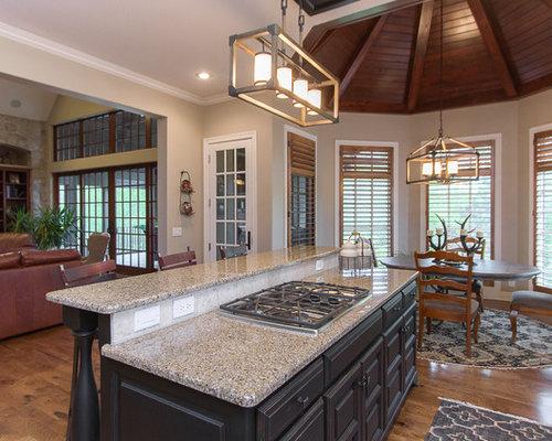 grande cuisine avec un plan de travail en terrazzo photos et id es d co de cuisines. Black Bedroom Furniture Sets. Home Design Ideas