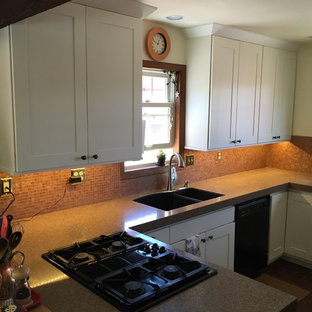 LED under cabinet lighting with refaced base cabinets