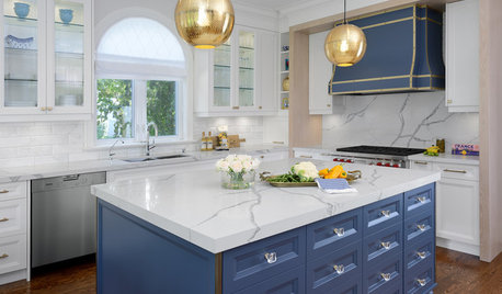 Brass and Blue Boost a Toronto Kitchen