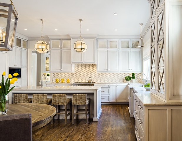 Transitional Kitchen by Moore Architects, PC