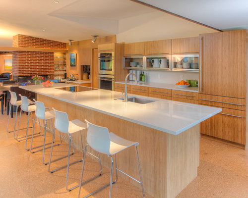 bamboo kitchen flooring | houzz