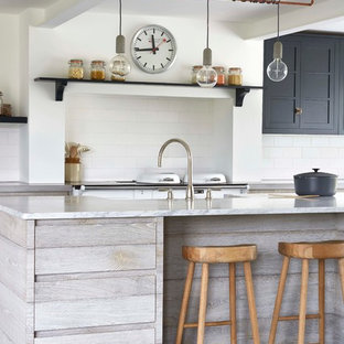 This is an example of a rural kitchen in London.