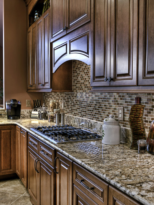 Granite And Tile Backsplash Houzz