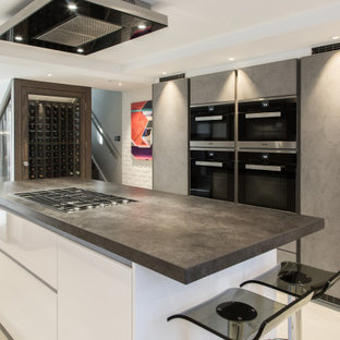 Leicht by Vogue Kitchens - Contemporary Basement Kitchen in Edwardian Townhouse