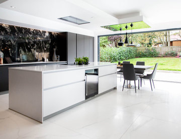 Leicht by Vogue Kitchens - Contemporary Monochrome Open Plan Smart Kitchen