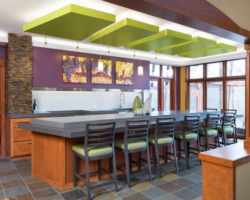 Http Houzz Com Photos Kitchen Eggplant Walls