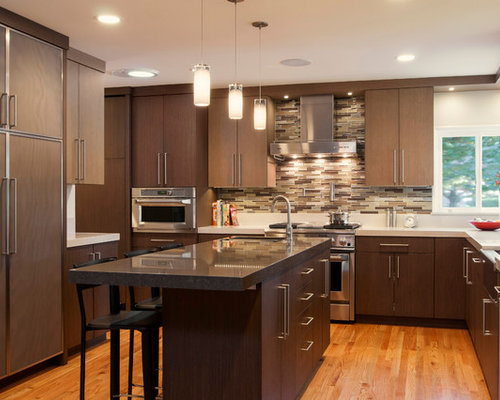 Brown Backsplash Home Design Ideas, Pictures, Remodel and Decor