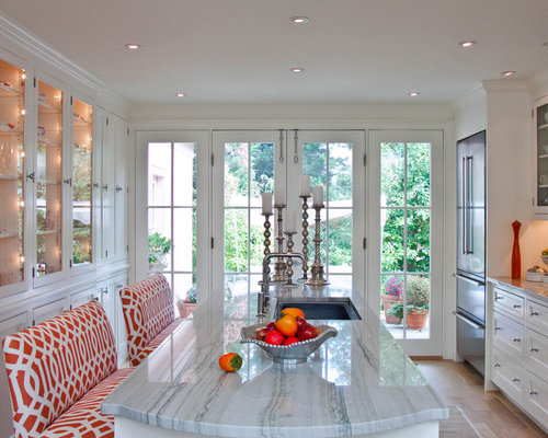 Inspiration For A Large Contemporary Galley Light Wood Floor Eat In Kitchen  Remodel In Philadelphia