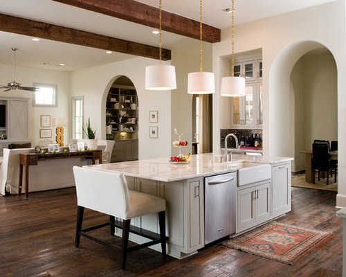 Kitchen Island With Farmhouse Sink Farm Sink On Island  Houzz