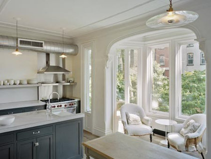 eclectic kitchen by Ken Levenson Architect P.C.