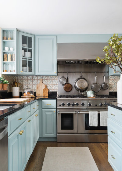 Transitional Kitchen by Twelve Chairs Interiors