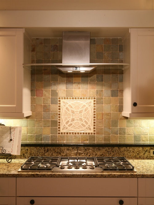 how to kitchen backsplash tumbled slate backsplash houzz 4374