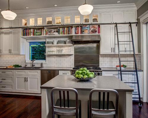 cuisine craftsman avec un vier 2 bacs photos et id es d co de cuisines. Black Bedroom Furniture Sets. Home Design Ideas