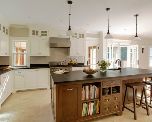 farmhouse kitchen cabinets soapstone counter houzz 3696