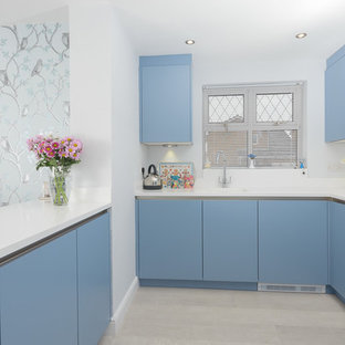 Lift your kitchen out of the doldrums with a contemporary touch of the blues