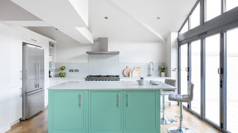 Light and Airy Green Kitchen