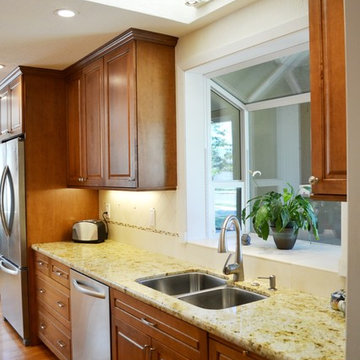 Light and Cozy Galley Kitchen Designed By Cynthia Collins
