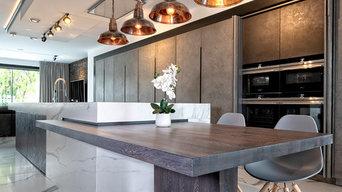 Light and Dark Concrete Finish Kitchen
