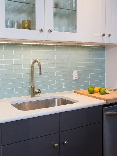 Linear Glass Tile Backsplash Home Design Ideas, Pictures, Remodel and Decor