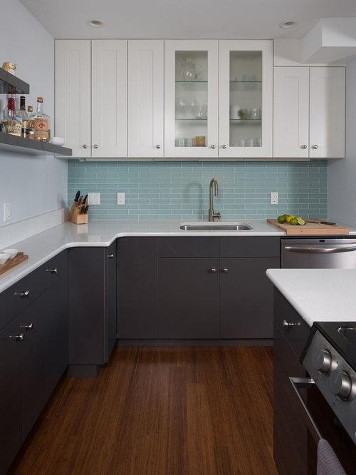 No Upper Cabinets Backsplash Home Design Ideas Pictures