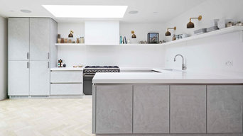 Light Concrete Kitchen Teddington