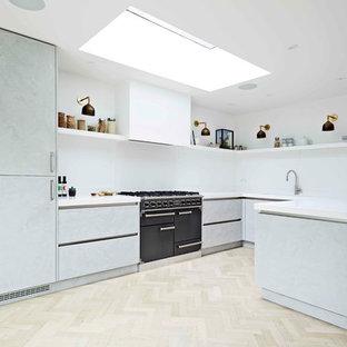 Light Concrete Kitchen Teddington