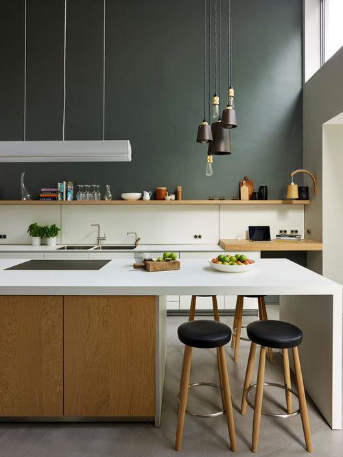 Kitchen design ideas renovations amp photos with concrete flooring