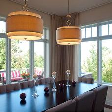 Traditional Kitchen by Atlantic Lighting Studio