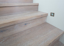 What is the white washed timber floors?